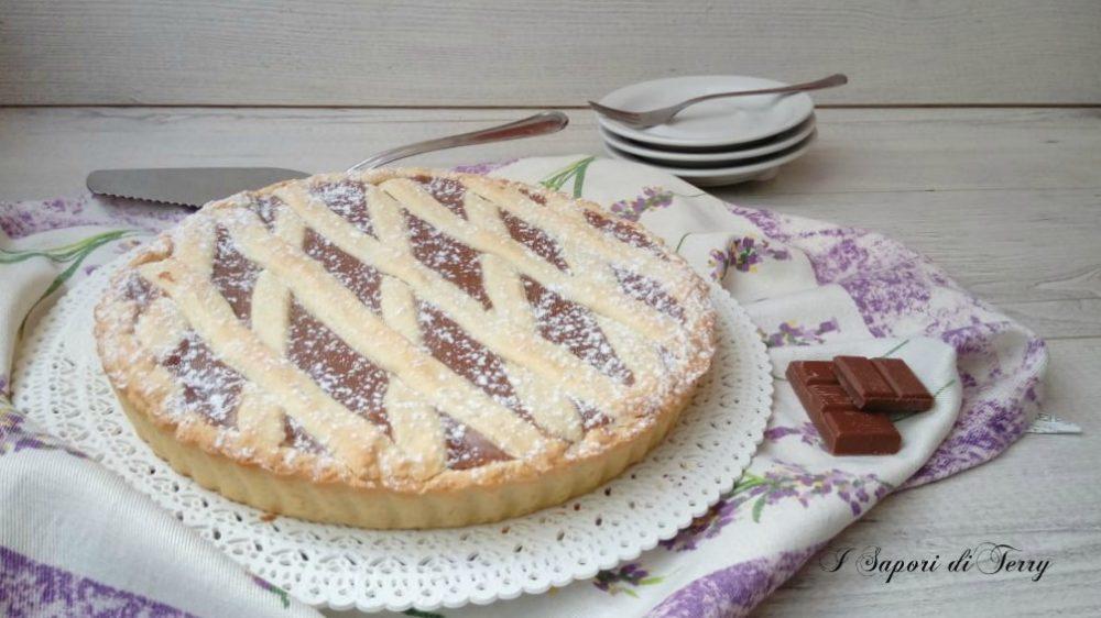 Crostata con crema di cioccolato