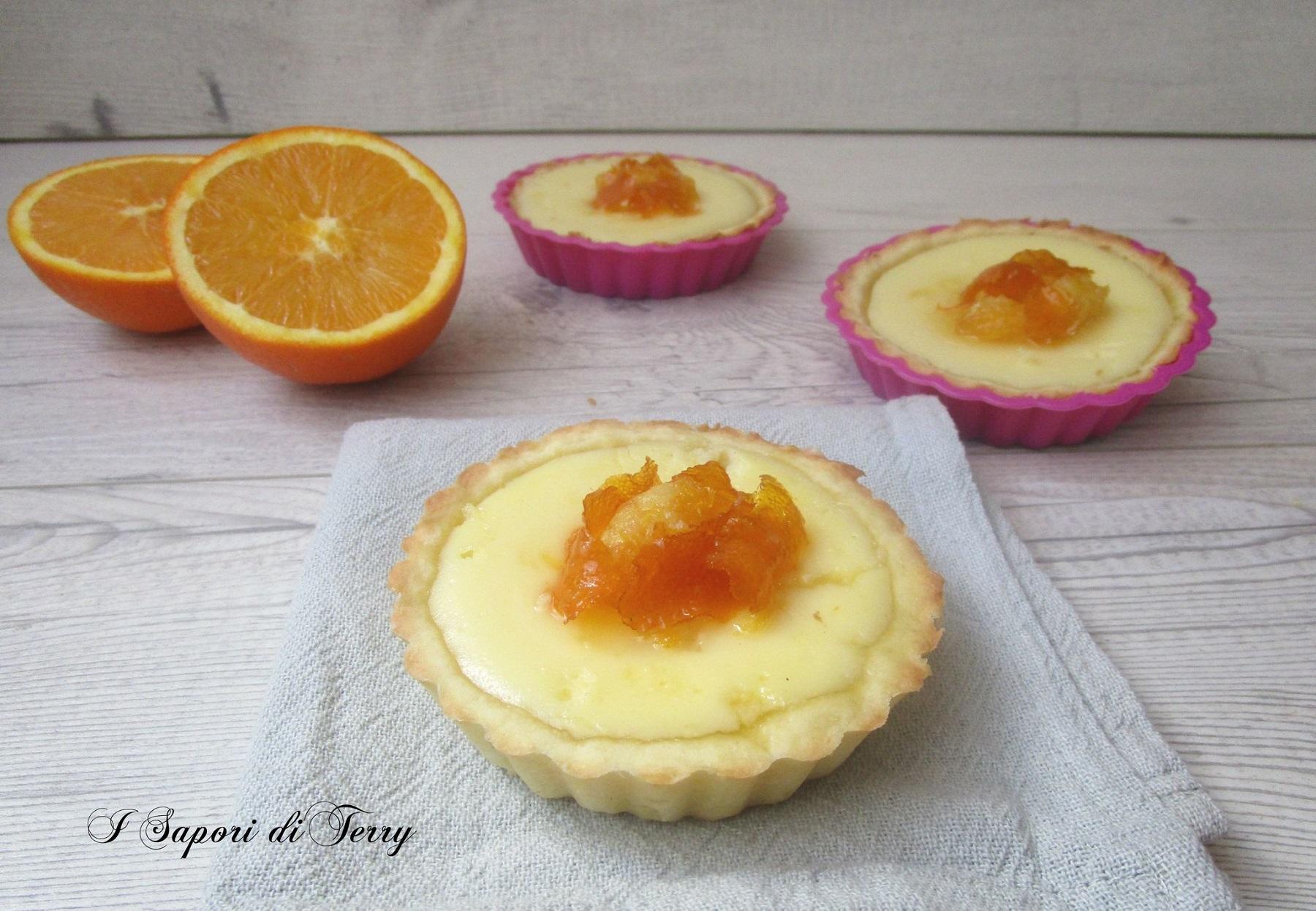 Crostatine con ricotta e arance