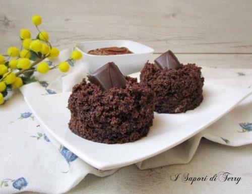 Mini torta mimosa al cioccolato