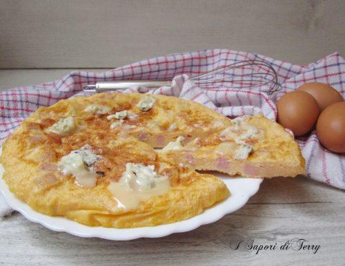 Frittata con prosciutto cotto e gorgonzola
