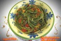 Fagiolini piccanti con aglio e pomodoro