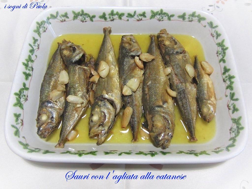 Sauri con l'agliata alla catanese