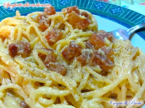 Spaghetti alla carbonara | I sogni di Paola