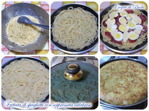 Frittata di spaghetti con soppressata calabrese
