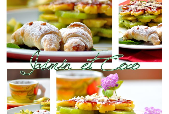 Macedonia Millefoglie con Mini Croissants