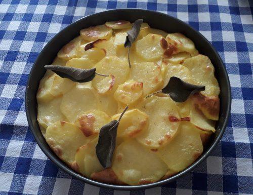 TORTA DI PATATE ALLA SALVIA