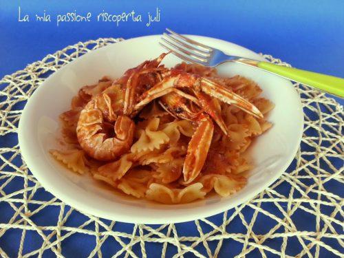 Pasta con cicale di mare ( canocchie )
