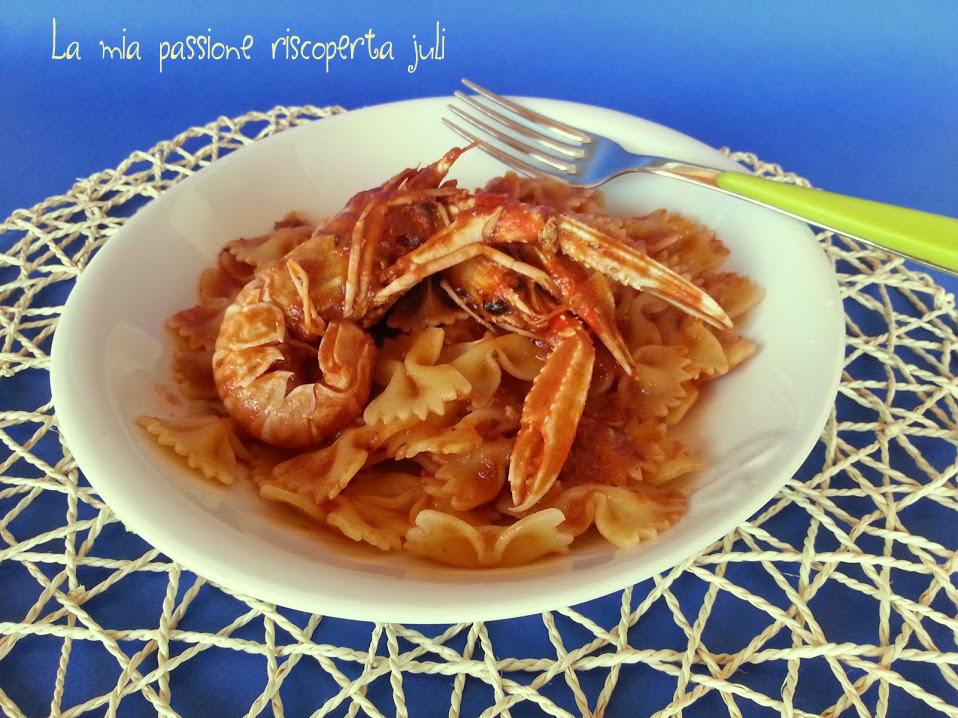Pasta con cicale di mare (canocchie )