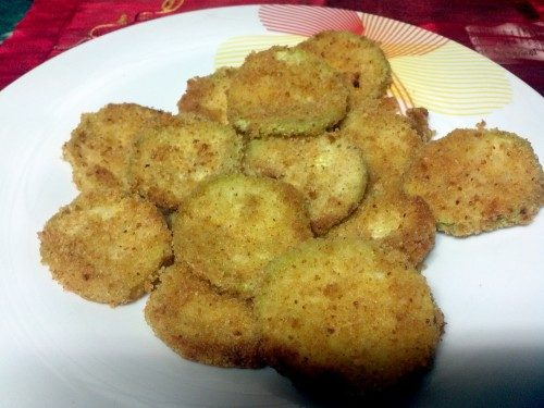 Zucchine impanate forno