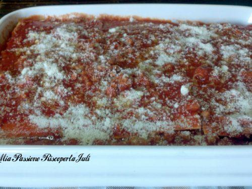 Lasagne al forno con ragù