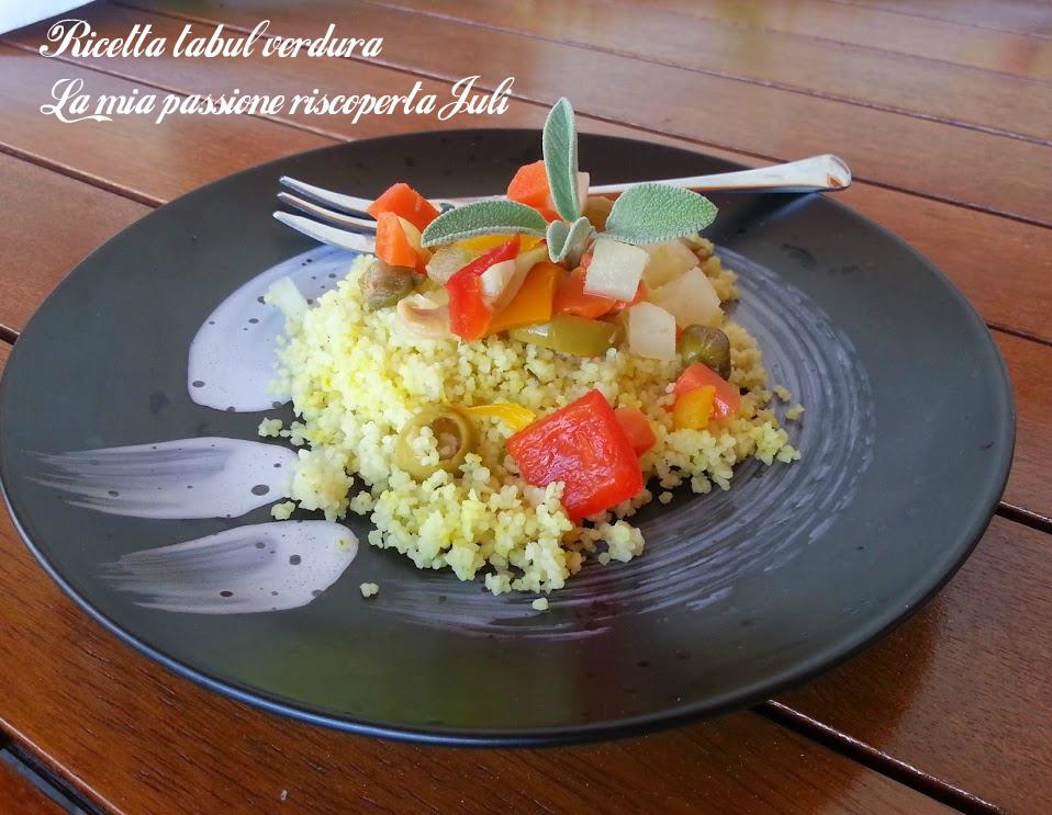 Ricetta tabulè verdura