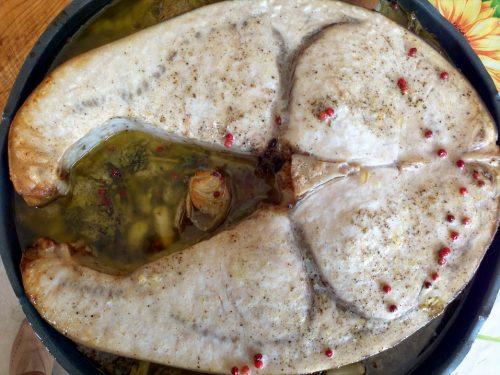 Pesce spada al forno a legna