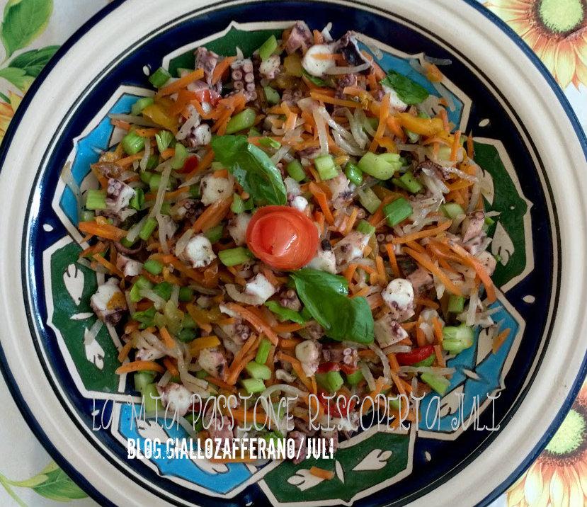 Insalata di polpo con verdure