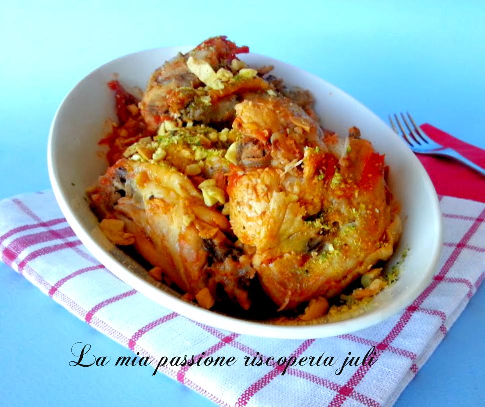 Pollo alle mandorle e pistacchi