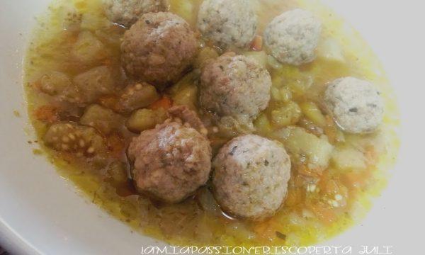 Polpette in brodo di carne e melanzane