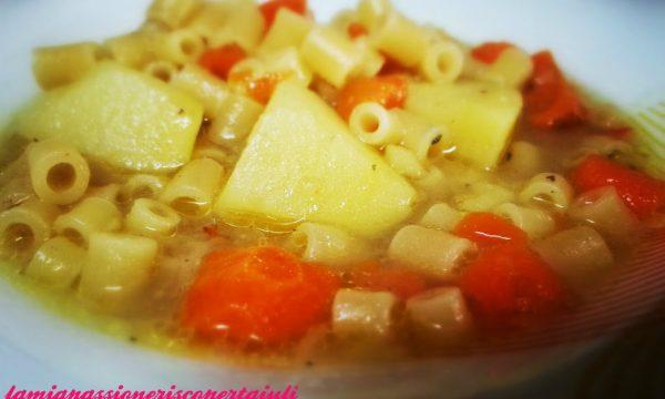 Pasta con patate e carote