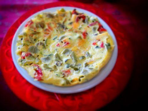 Frittata peperoni zucchine zucca