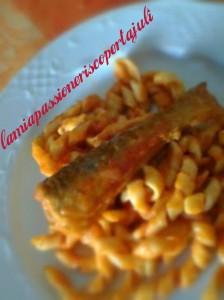 Busiati con salsa di pesce fasciano