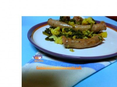 Salsiccia con spinaci & cavolfiore