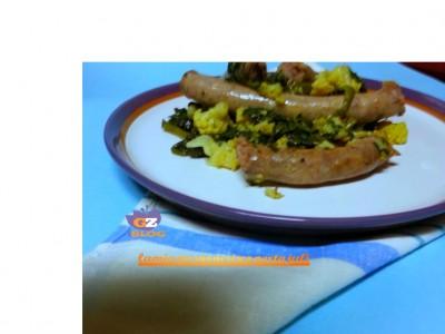 salsiccia con spinaci &cavolfiore