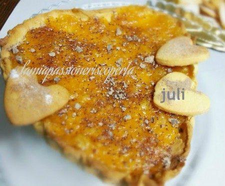 Crostata per san valentino all'arancio
