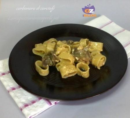 pasta carbonara di carciofi
