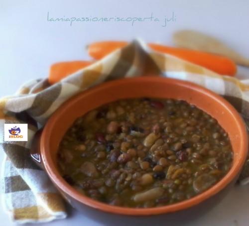 minestra di legumi misti