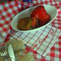 Peperoni ripieni di ragu e riso
