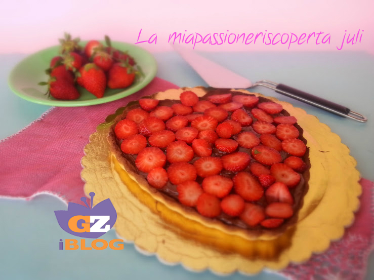 crostata di fragole e nutella