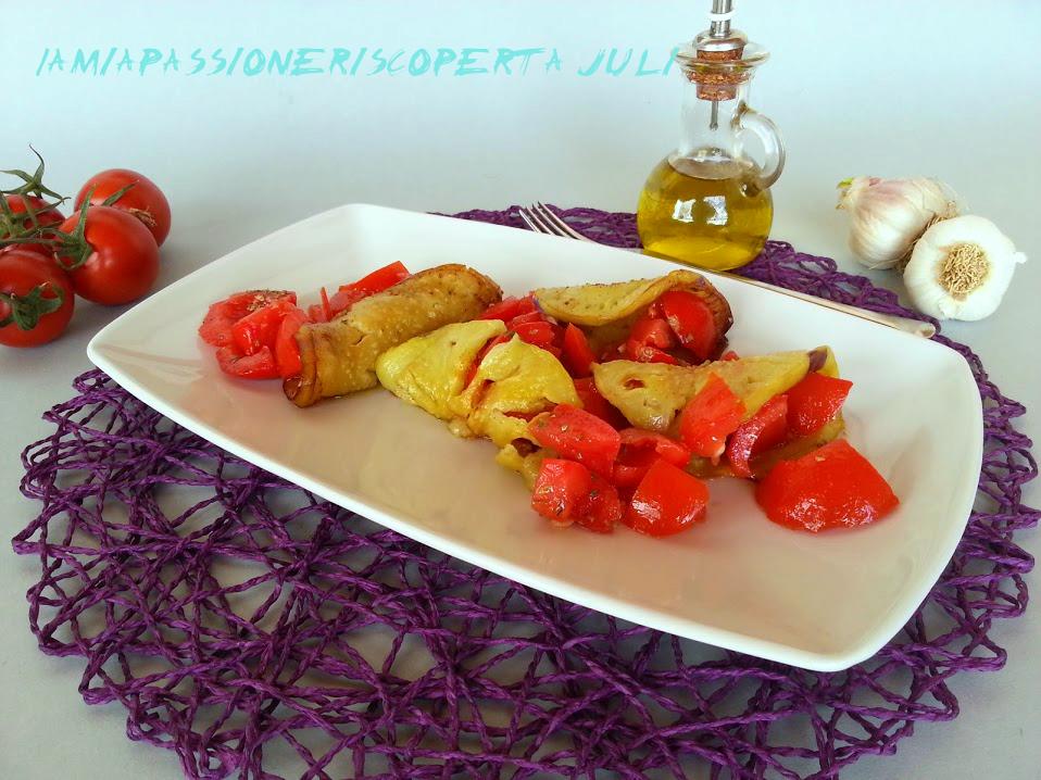 Melanzane con pomodorini e aglio
