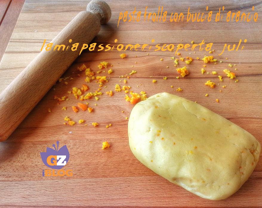 pasta frolla con buccia di arancio