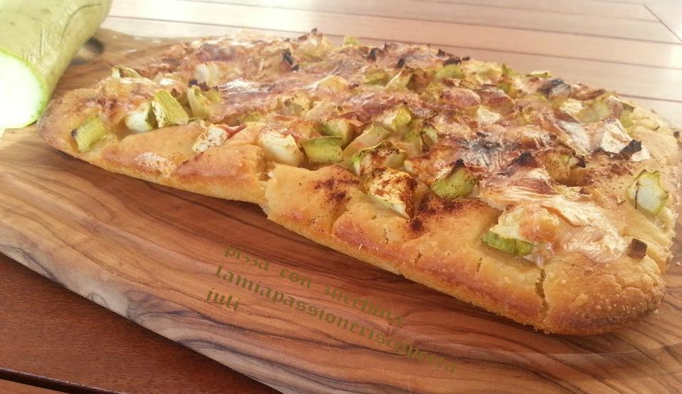 pizza con zucchina