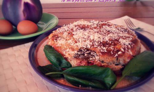 Torta di melanzane e mozzarella