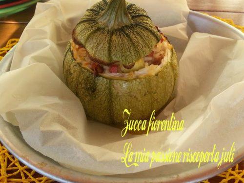 zucca fiorentina ripiena di riso