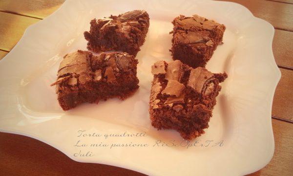 Torta quadrotti Parodi al cioccolato