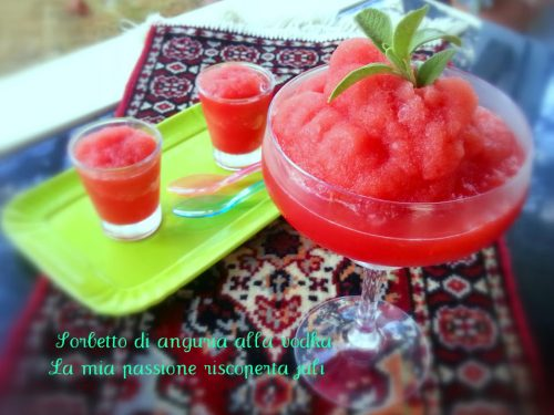 Sorbetto di anguria alla vodka