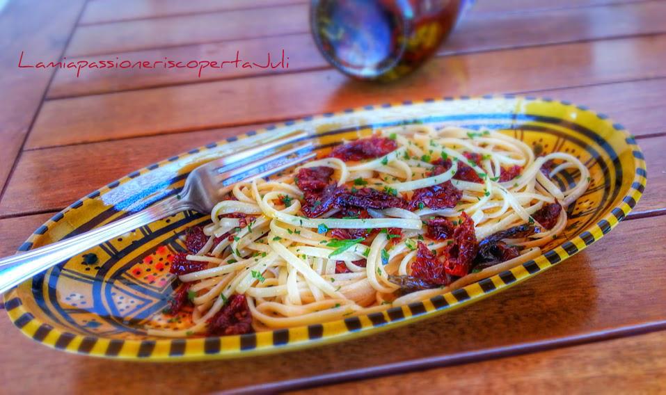 Pasta e olio di pomodori secchi