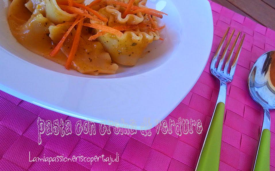 Pasta con crema di verdure