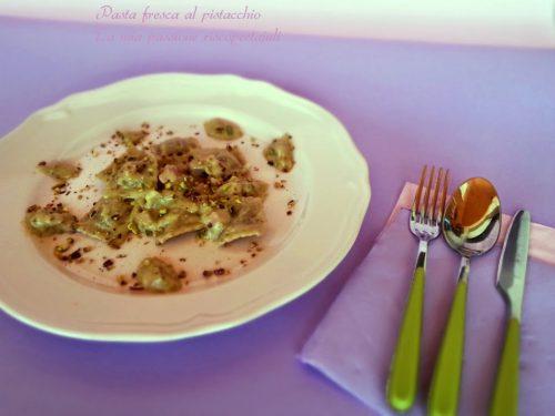 Pasta fresca al pistacchio di bronte