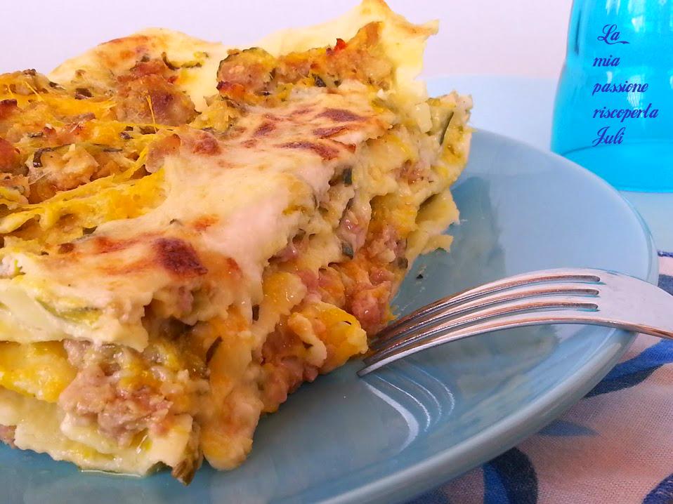 lasagne con zucca e zucchine