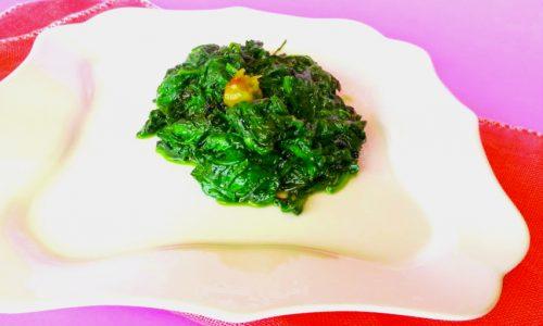 Spinaci aglio e olio