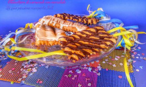 Chiacchiere di carnevale con cioccolato