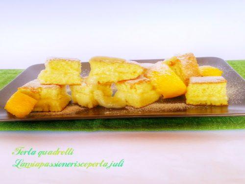 Pan di spagna a quadretti  (crema limone)