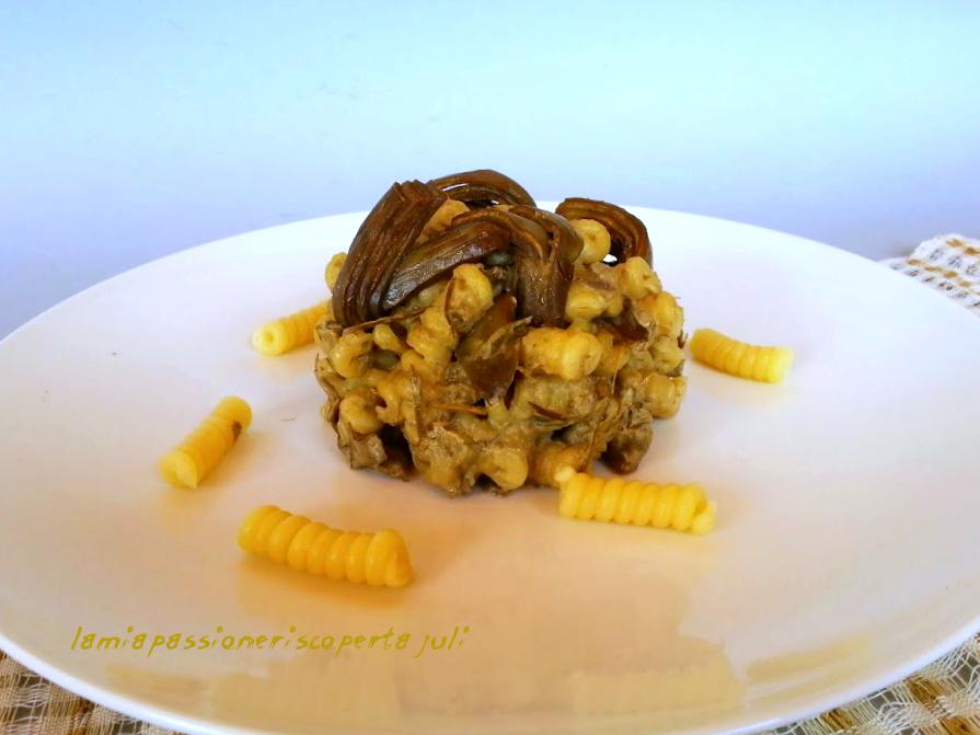 pasta con crema di carciofi e panna