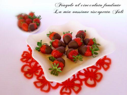 Fragole al cioccolato fondente