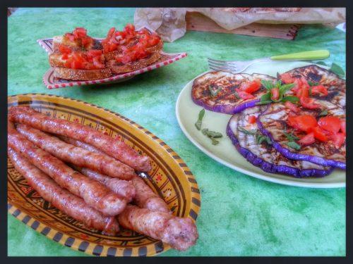 Salsiccia sul barbecue