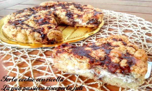 Torta cookie con ricotta