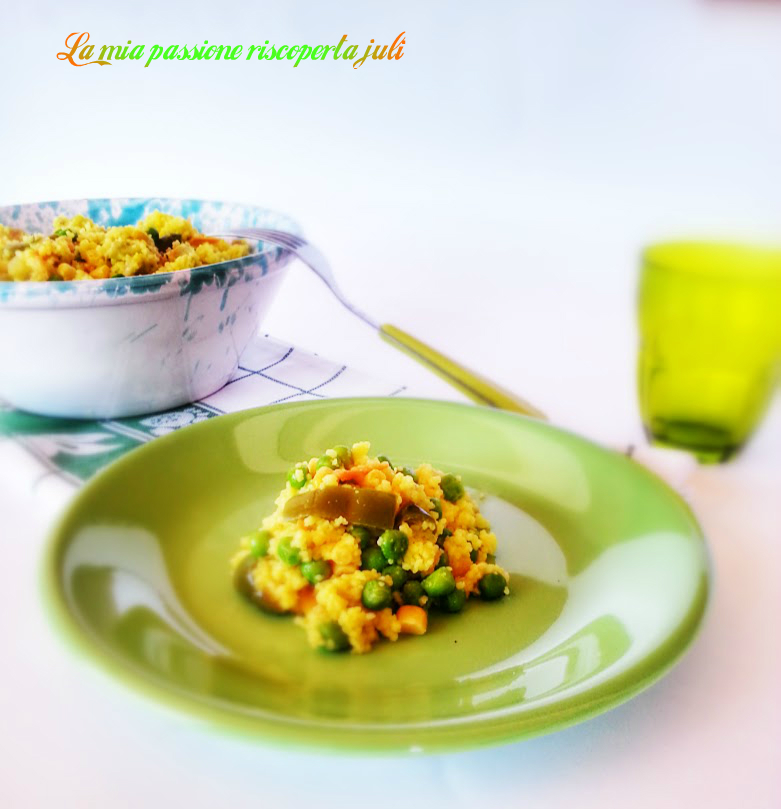 tabulè con verdure fresche
