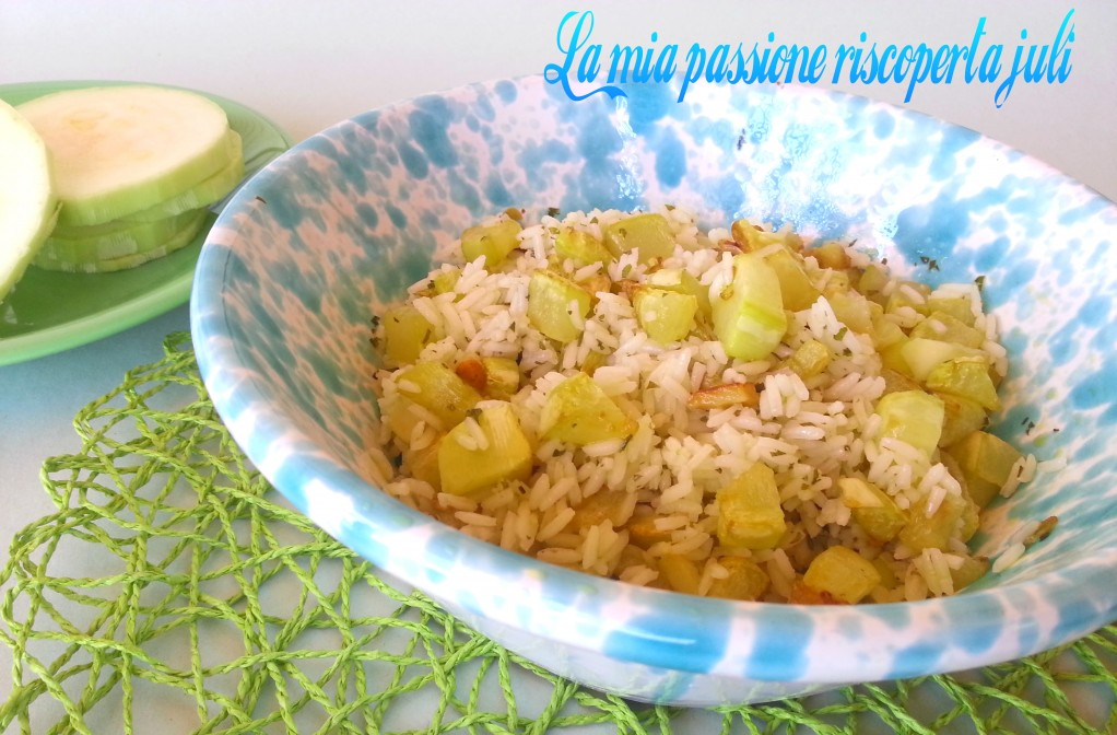 riso freddo con zucchine