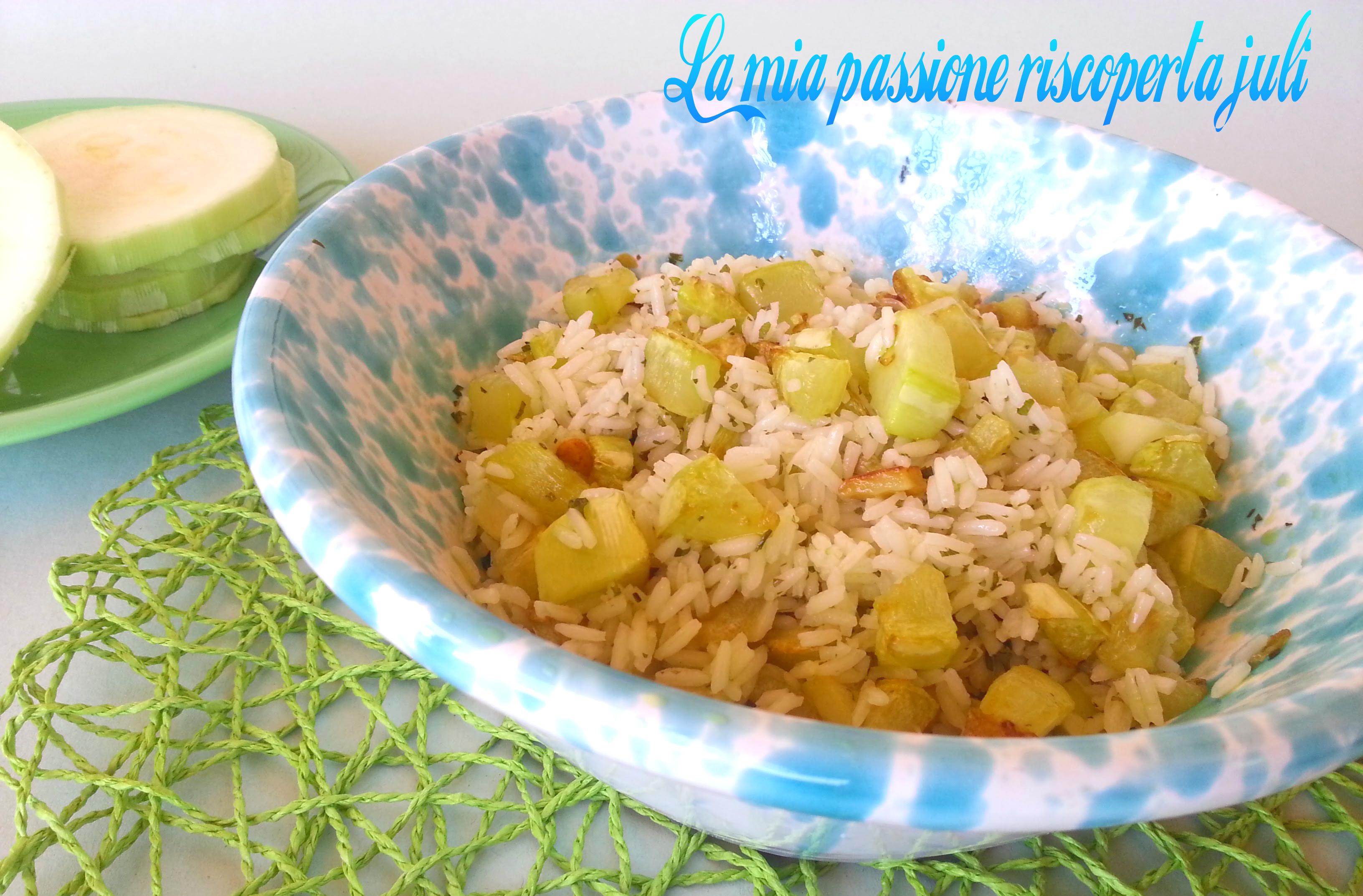 riso freddo con zucchina